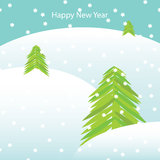 Карточка Новый Год вектора иллюстрация штока