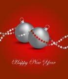 Карточка Новый Год иллюстрация штока