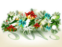 Карточка Новый Год 2013 рождества Стоковое Фото