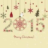 Карточка 2015 Новых Годов Стоковые Изображения
