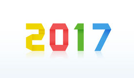 карточка 2017 Новых Годов Стоковая Фотография