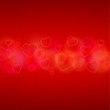 Карточка дня Валентайн с сердцами Стоковое Изображение RF