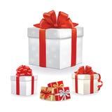 Карточка дня валентинки все элементы наслоенный комплект коробки Стоковая Фотография