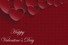 Карточка дня валентинки красная Стоковое Изображение RF