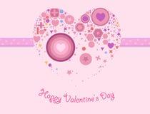 Карточка дня валентинки иллюстрация вектора