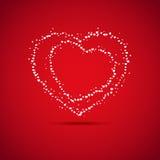 Карточка дня валентинки Стоковая Фотография