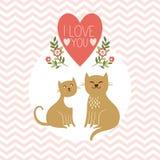 Карточка дня валентинки Стоковые Изображения RF