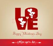 Карточка дня валентинок ВЛЮБЛЕННОСТИ счастливая иллюстрация вектора