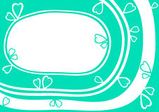Карточка дня валентинок границы рамки сердца воды Стоковое Изображение RF