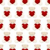 Карточка дня валентинок плюшевого медвежонка иллюстрация штока