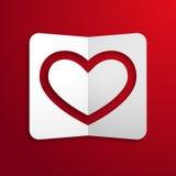 Карточка дня валентинок с сердцем. Стоковые Фото
