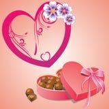 Карточка дня валентинок Стоковое Фото