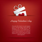 Карточка дня валентинок стоковое изображение rf