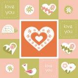 Карточка дня валентинок иллюстрация вектора