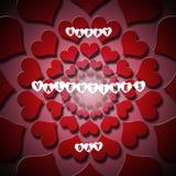 Карточка дня валентинок Стоковые Фото