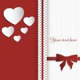 Карточка дня валентинок Стоковые Фотографии RF