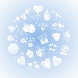 Карточка дня валентинок St Стоковые Изображения RF