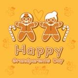 Карточка дня дедов шаржа печенья Стоковые Изображения
