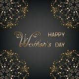 Карточка дня женщин Стоковая Фотография