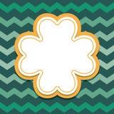 Карточка дня patricks St с рамкой текста клевера 4 лист Стоковая Фотография