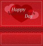 Карточка дня ` s валентинки романтичная Стоковая Фотография RF