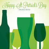 Карточка дня St. Patrick в формате вектора иллюстрация штока