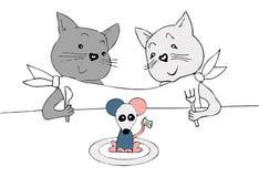 Карточка объявления свадьбы, праздничный обед, смешная нарисованная вручную иллюстрация бесплатная иллюстрация
