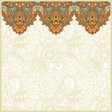 карточка объявления богато украшенный Стоковые Изображения