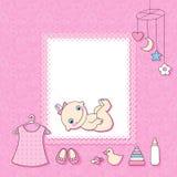 Карточка объявления ребёнка. Стоковые Фото
