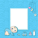 Карточка объявления ребёнка. Стоковое фото RF