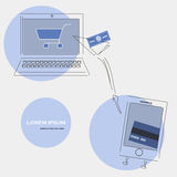Карточка оплат творческого шаблона передвижная Стоковые Изображения RF