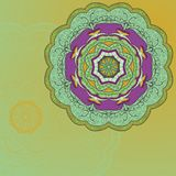 Карточка орнамента шнурка круга нарисованная вручную бесплатная иллюстрация