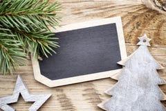 Карточка доски рождества Стоковое фото RF