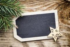 Карточка доски рождества Стоковое Фото