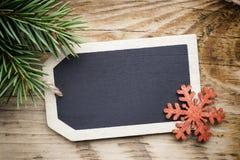 Карточка доски рождества Стоковое Изображение