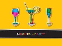 Карточка партии коктеила Стоковое фото RF