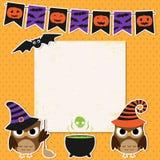 Карточка партии хеллоуина Стоковые Изображения
