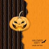 Карточка партии хеллоуина Стоковое Фото
