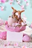 Карточка пасхи в пастельных цветах Стоковые Фото