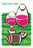 Карточка пасхи с яичками Стоковое Изображение