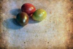 Карточка пасхи, пасхальные яйца, ретро предпосылка весны Стоковая Фотография RF
