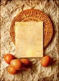 Карточка пасхи, пасхальные яйца, ретро предпосылка весны Стоковая Фотография