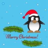 Карточка пингвина шаржа Стоковое Изображение RF