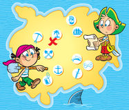 Карточка пирата Стоковое Изображение