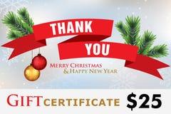 Карточка подарка, праздники подарочного сертификата счастливые Стоковое Изображение RF