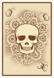 Карточка покера с черепом, вектором Стоковые Фотографии RF