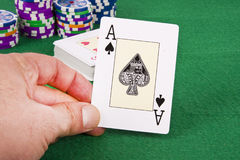 Карточка покера Стоковые Фотографии RF