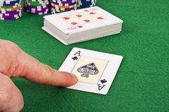 Карточка покера Стоковое фото RF
