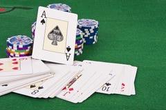 Карточка покера Стоковые Изображения RF