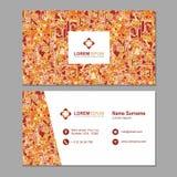 Карточка посещения, визитная карточка с абстрактной полигональной картиной Ve Стоковые Изображения RF